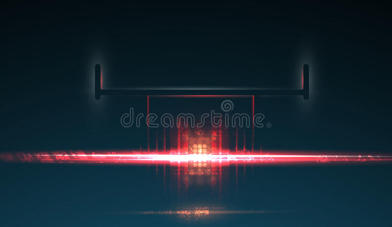 Racing car backlight. F1 spotlight. Abstract dark background vector illustration