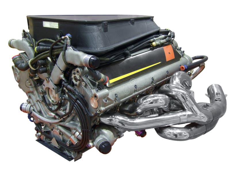 Racing car engine. Sport racing car engine isolated royalty free stock photos