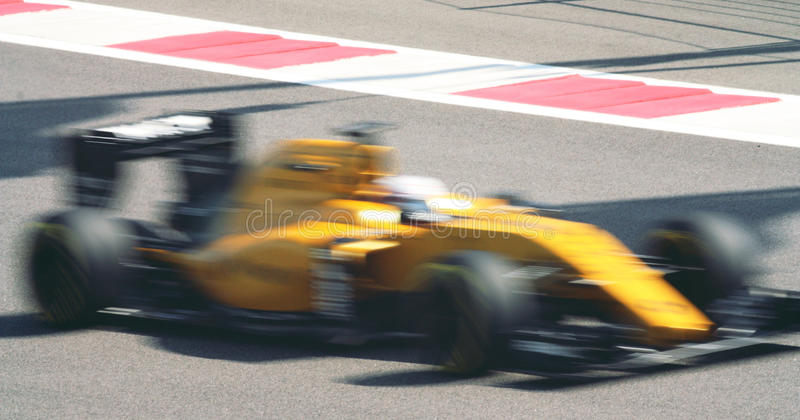 Fast car in motion blurred royalty free stock photo