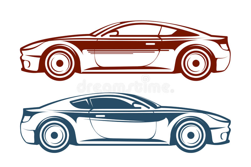 Racing car, vehicle, auto vector illustration royalty free illustration