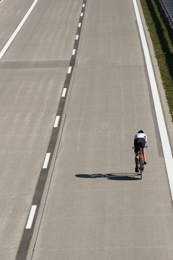 Racing cyclist during time trial. Poland royalty free stock image