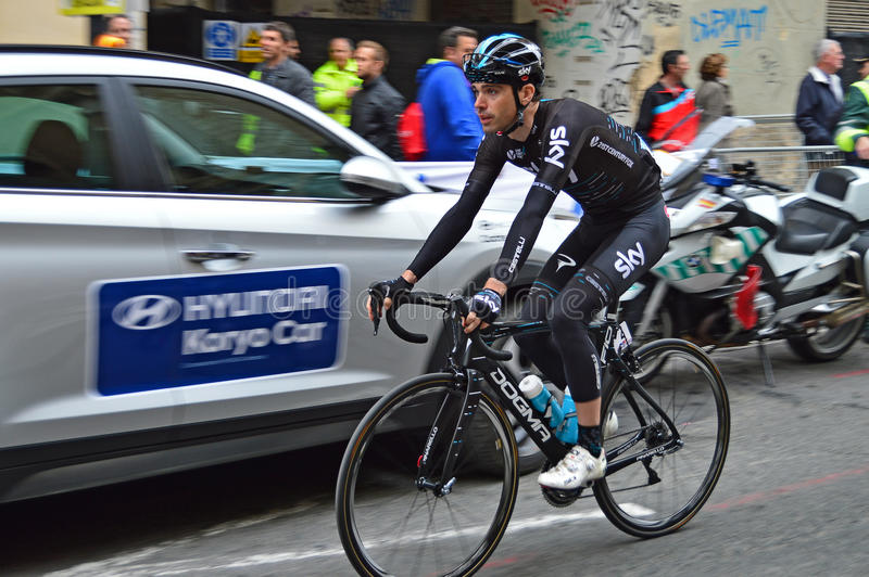 Racing Cyclist Vasil Kiryienka Team SKY royalty free stock photo