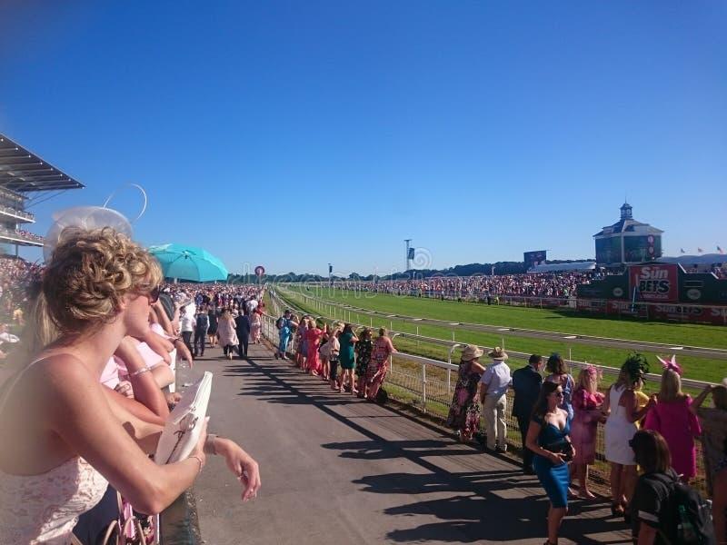 Racing day at York Racecourse Knavesmire York England. UK royalty free stock photo