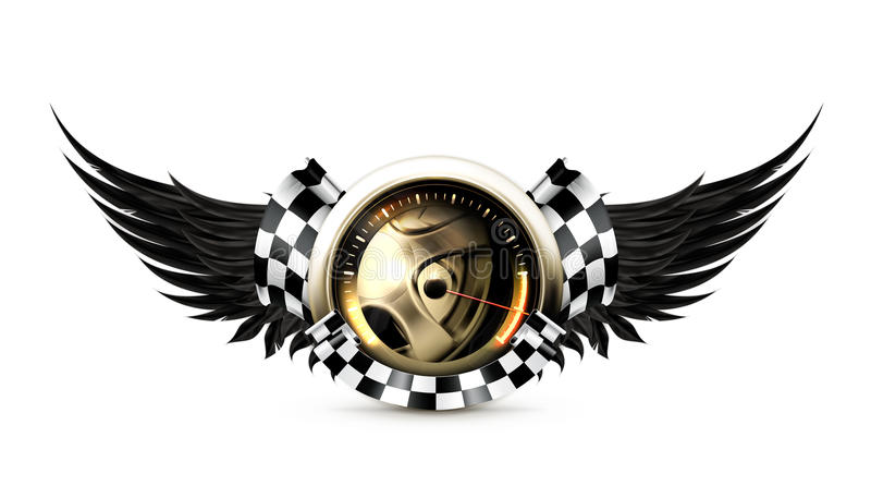 Download Racing emblem stock vector. Image of limit, energy, dashboard - 24511024