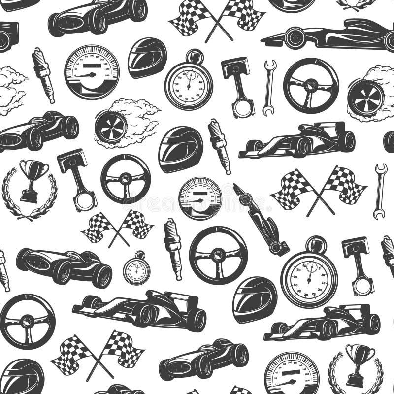 Racing Emblems Pattern vector illustration