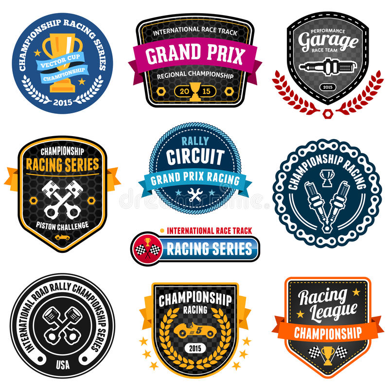 Racing emblems vector illustration