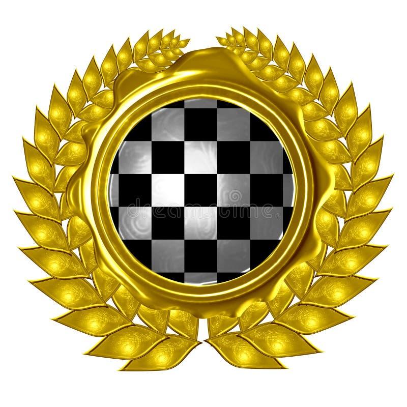 Racing flag vector illustration