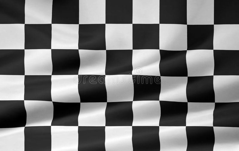 Racing Flag royalty free illustration