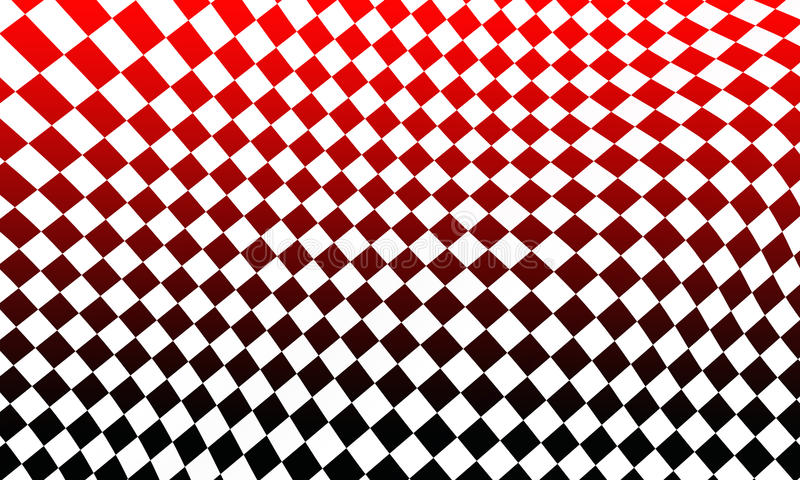 Racing flag background. Illustration of check or chequered racing flag in red, black and white royalty free stock photo
