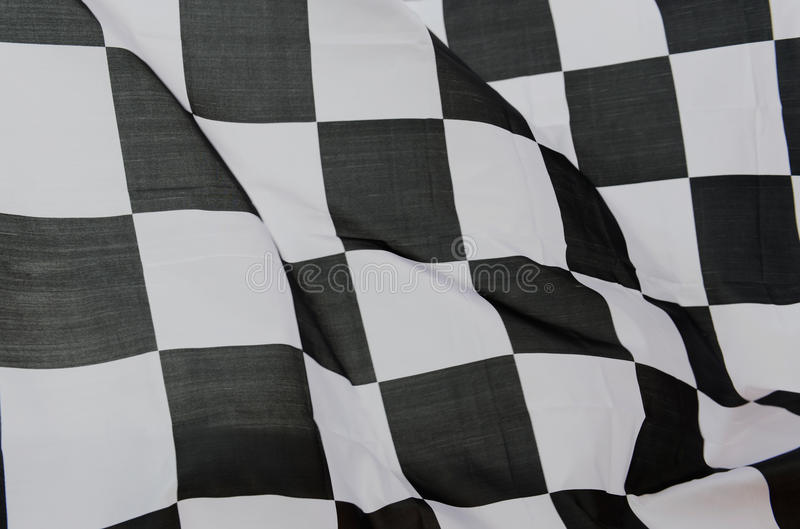 Racing flag. Close-up of racing flag, background stock image