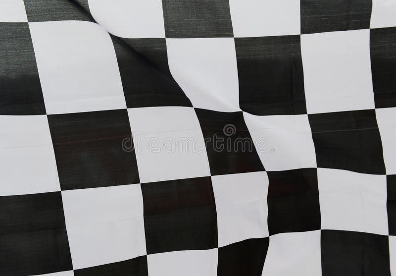Racing flag. Close-up of racing flag, background stock photo