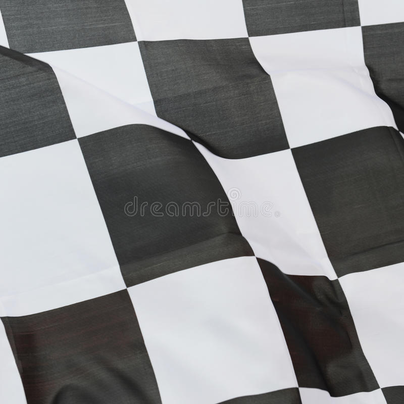 Racing flag. Close-up of racing flag, background stock images