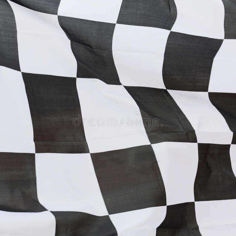 Racing flag. Close-up of racing flag, background stock photography