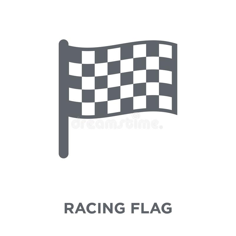 Racing flag icon from Productivity collection. vector illustration