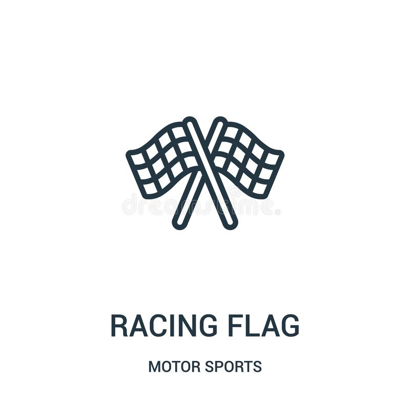 racing flag icon vector from motor sports collection. Thin line racing flag outline icon vector illustration. Linear symbol stock illustration