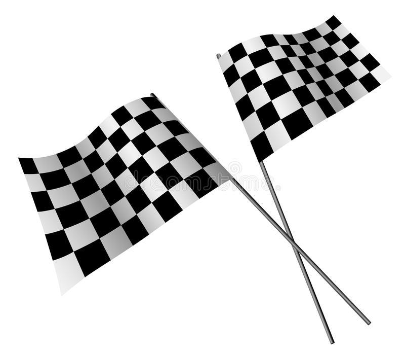 Download Racing flags stock vector. Image of checked, design, black - 10626423