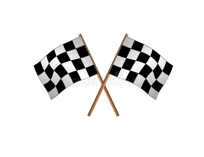 Download Racing flags stock illustration. Illustration of finishing - 14860850