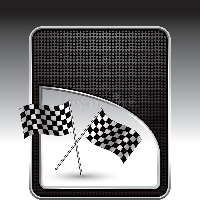 Download Racing Flags On Black Checkered Background Stock Vector - Illustration: 11486391