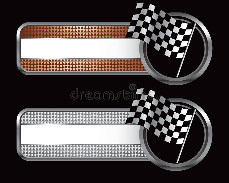 Racing flags on specialized banners