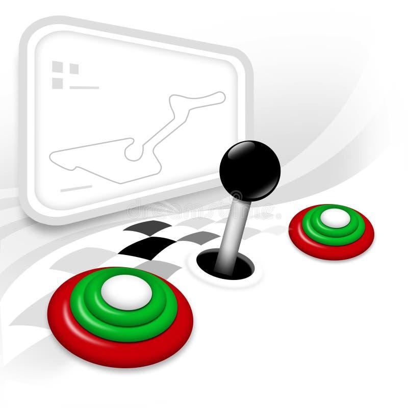 Racing game stock photography
