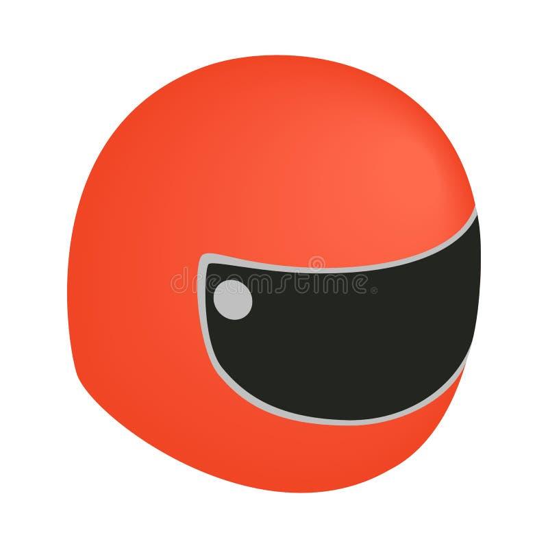 Racing helmet isometric 3d icon royalty free illustration