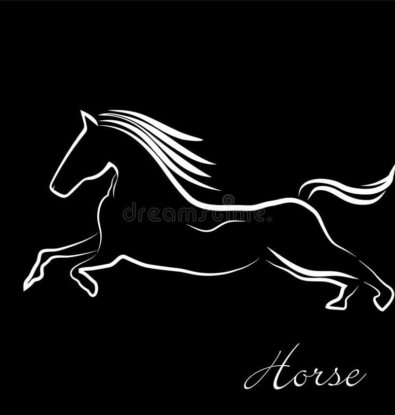 Racing horse royalty free illustration