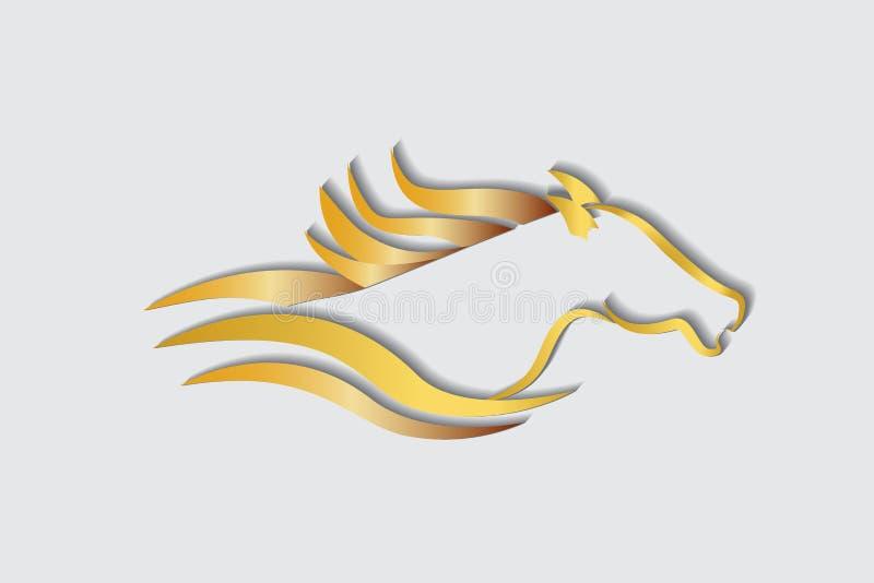 Racing horse logo vector image royalty free illustration