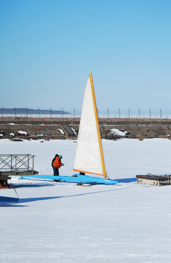 Racing Ice Boat stock photos