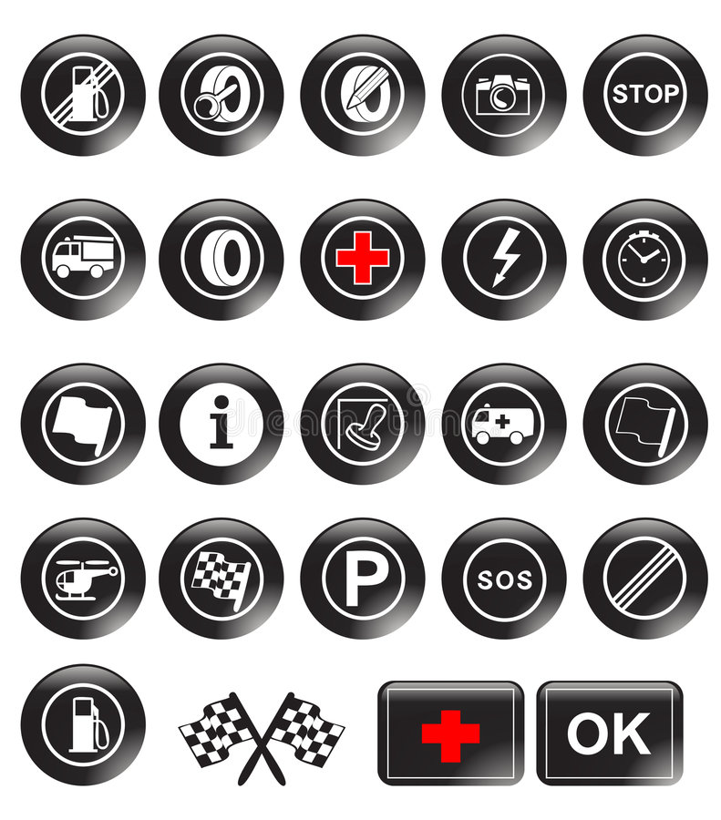 Download Racing icons stock vector. Image of drive, gauge, nozzle - 7691280