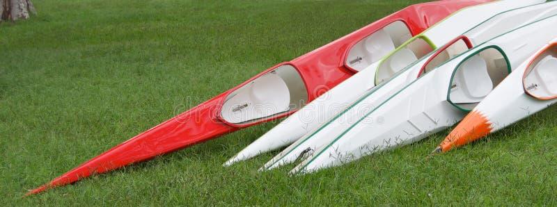 Racing Kayaks Royalty Free Stock Photos