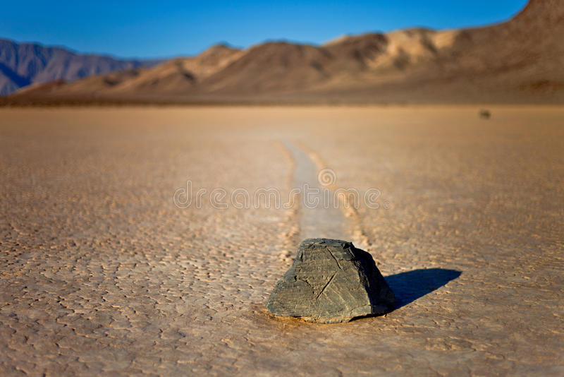 Racing Rock. Taken at Racing Track, Death Valley - CA royalty free stock image