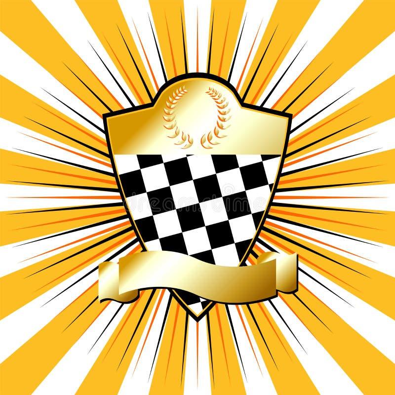 Racing_shield_03 vector illustratie