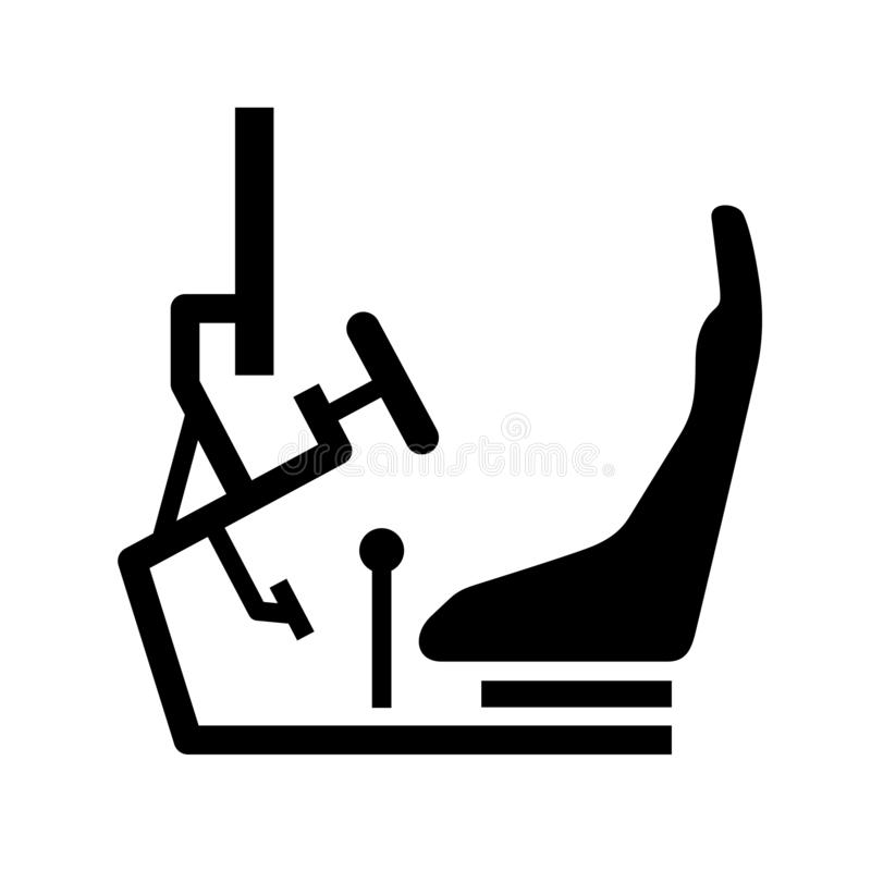 Collection Of Simulator Clipart: Racing Steering Wheel And Gearbox Stock Illustration