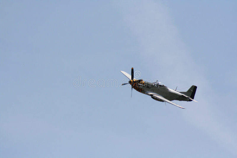Racing Spitfire royalty free stock image