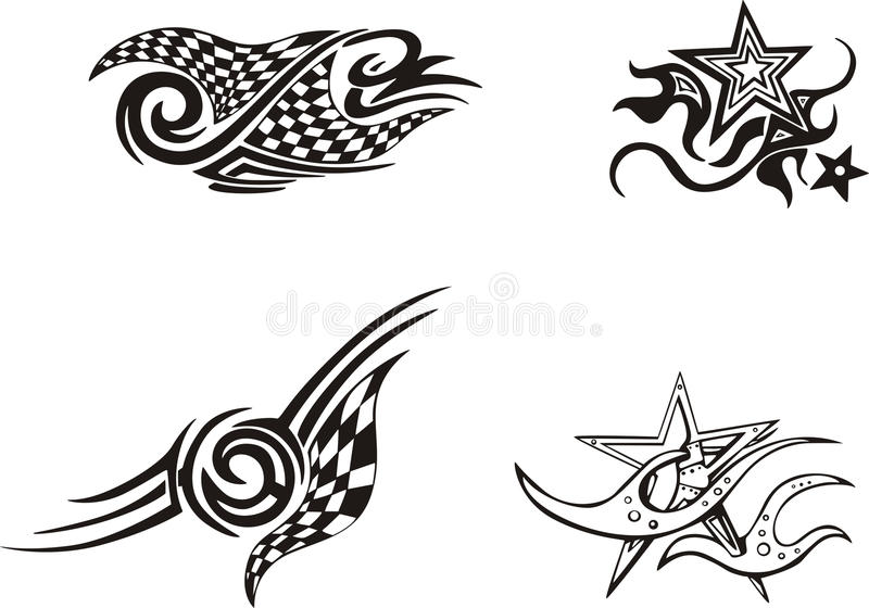 Racing And Star Designs Royalty Free Stock Image