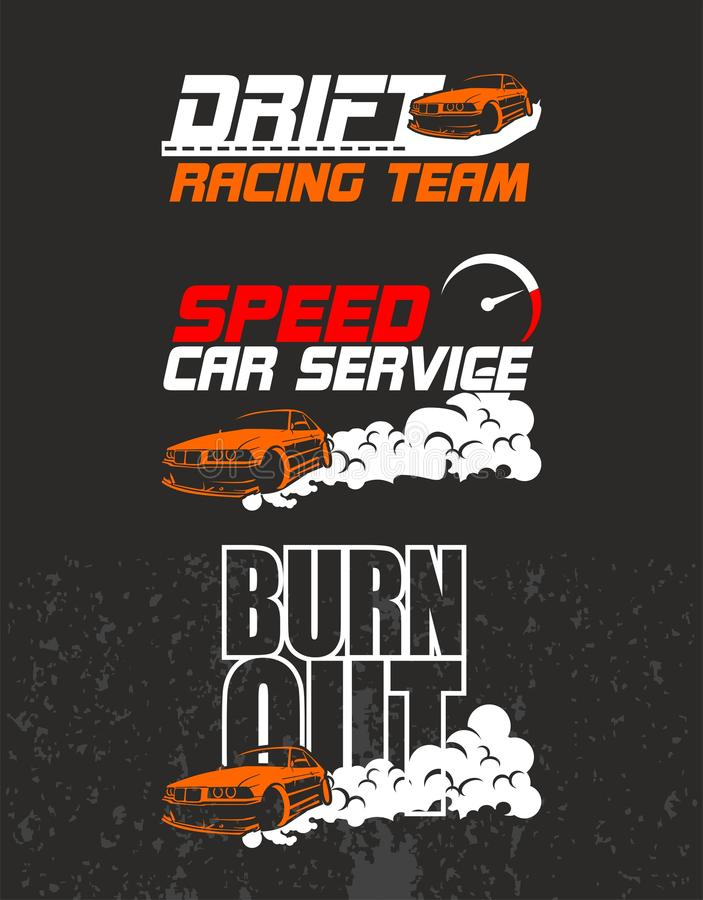 Racing team design t-shirt vector illustration