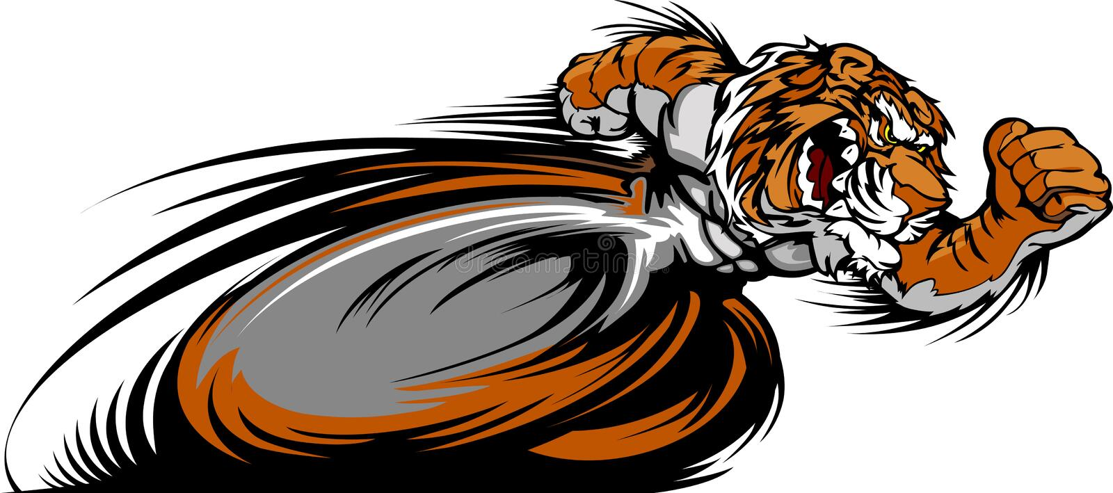 Download Racing Tiger Mascot Graphic Image Stock Vector - Illustration of team, sports: 22559639