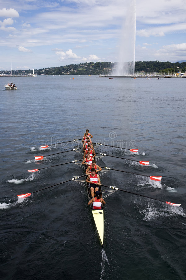 Download Racing Towards The Jet D'Eau Editorial Stock Image - Image: 5974204