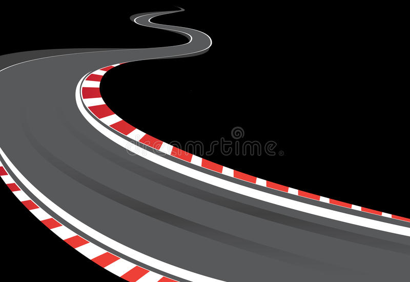 Download Racing track stock vector. Image of frame, formula, speed - 10655900
