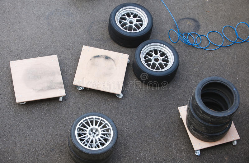 Download Racing Wheels stock photo. Image of wheel, rubber, repair - 20093134