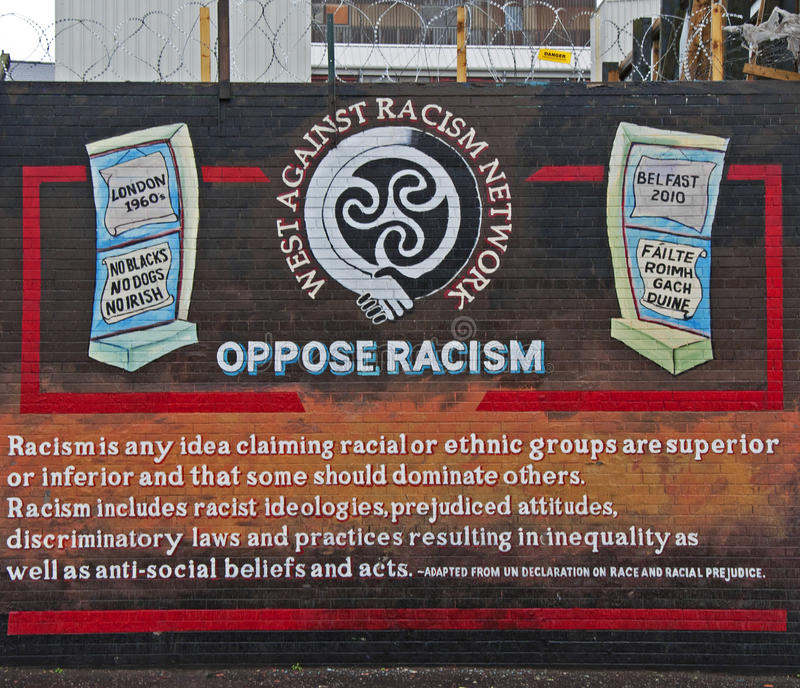Racism Mural On The Falls Road Editorial Photo