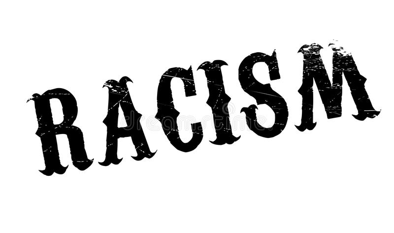 Racism rubber stamp. Grunge design with dust scratches. Effects can be easily removed for a clean, crisp look. Color is easily changed vector illustration