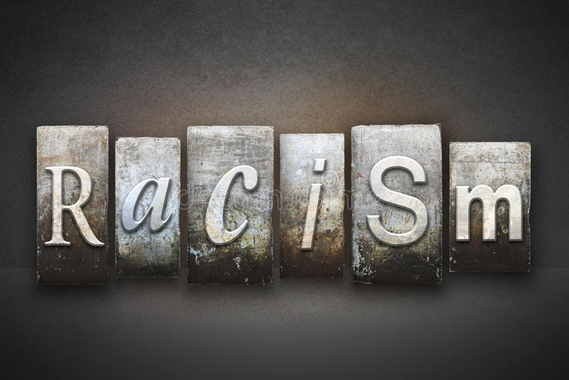 Racism Theme Letterpress royalty free stock photos