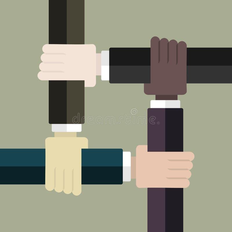 racismo ilustración del vector