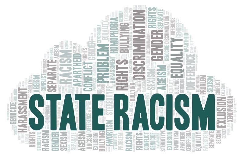 Racismo do estado - tipo de discriminação - nuvem da palavra ilustração do vetor