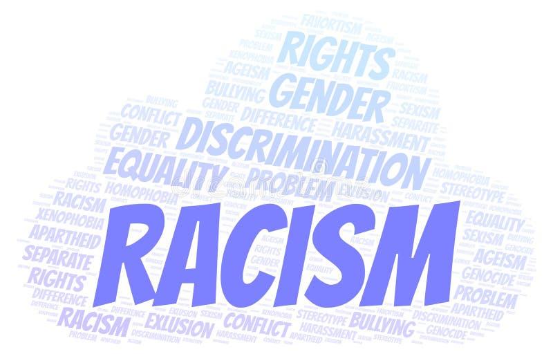 Racismo - tipo de discriminação - nuvem da palavra ilustração do vetor