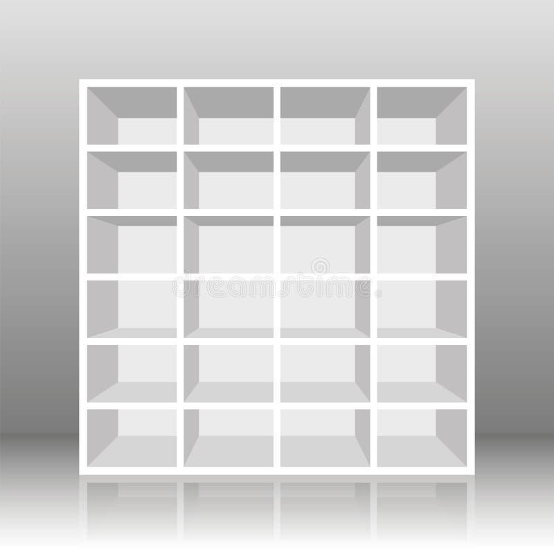Rack Book Shelf White royalty free illustration