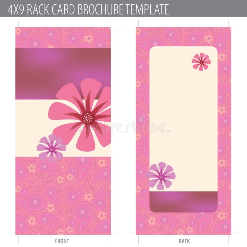 Rack Card Brochure Template stock illustration