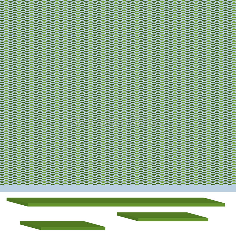 Rack deco background. Illustration wallpaper background rack element template graphic isolated bottom white background deco green color stock illustration