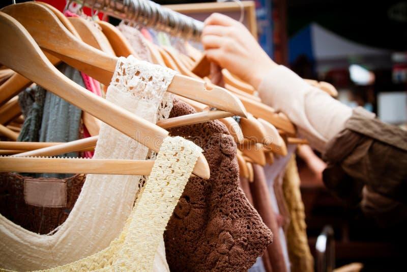 Download Rack of dresses at market stock image. Image of hangers - 20053013